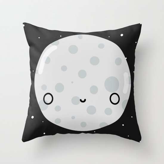 The Moon Throw Pillow