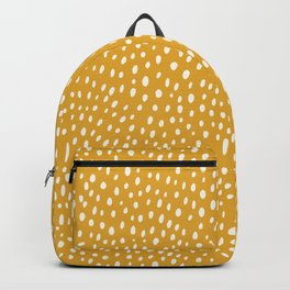 Yellow Mustard Confetti  Spotted Pattern Dots Backpack