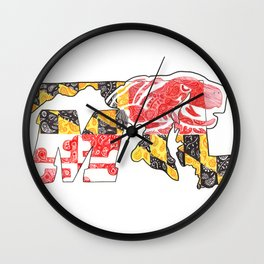 M for Maryland Wall Clock