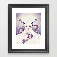 Deer: Protection Series Framed Art Print