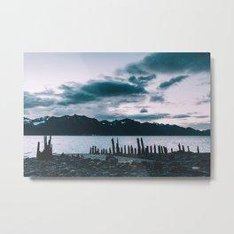 Alaskan Mountain Dawn Metal Print
