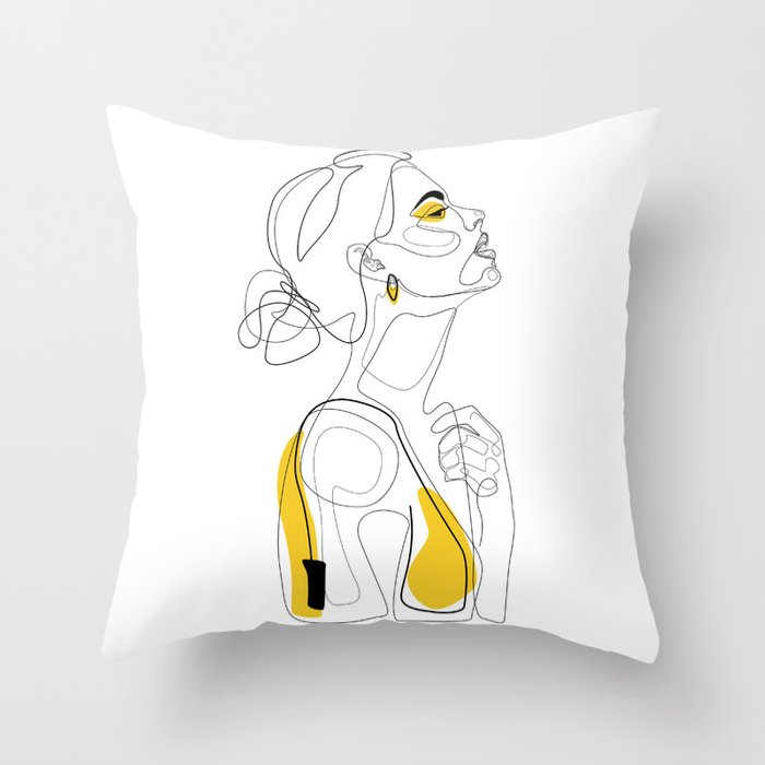 Color Beauty Throw Pillow