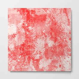 Abstract 17 - Study In Red Metal Print
