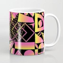 Sunset Surf Shapes in Black Coffee Mug