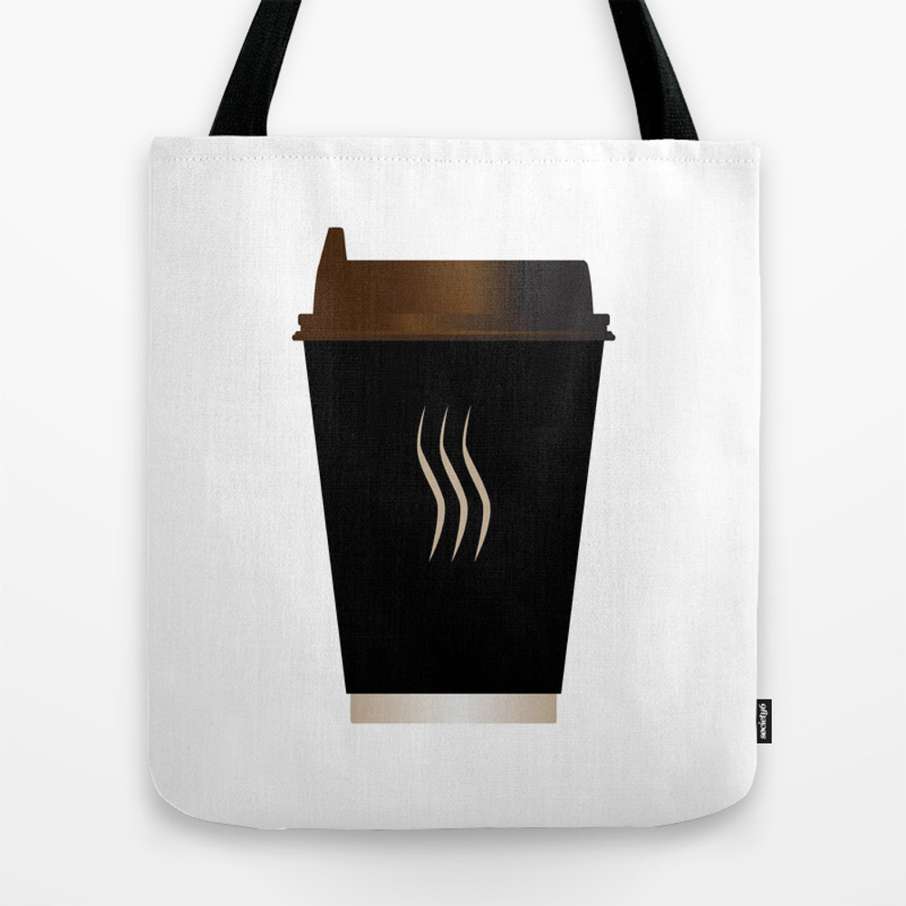 Paper Coffee Cup Tote Bag by Homestead TBG8044764