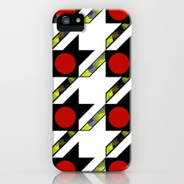 HOUNDSTOOTH PATTERN WITH POLKA DOT EFFECT iPhone Case