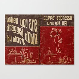 Caffe' Espresso Canvas Print