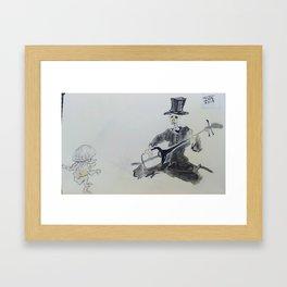 Kawanabe Kyosai Practice Framed Art Print