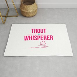 Trout Whisperer Anglers Humor Fishing Rug
