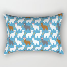 Pink Hair Alpacas I Rectangular Pillow