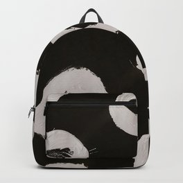 Round, Abstract, White & Black Backpack
