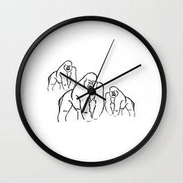 Gorillas Wall Clock