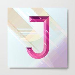 Crystal 'J' Metal Print