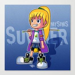 MySims - Summer as Sakura (Axanael) Canvas Print