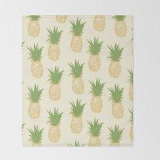 Pineapple Gold Throw Blanket