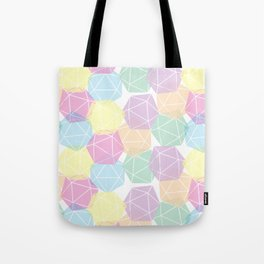 Pastel D20 Pattern Dungeons and Dragons Dice Set Tote Bag