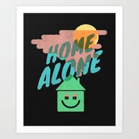 home alone Art Prints featuring Home Alone by Nick Nelson