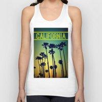 california Tank Tops featuring CALIFORNIA by RichCaspian