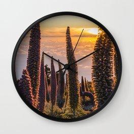 La Palma sunset Wall Clock