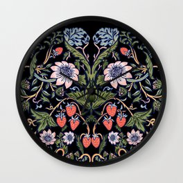 Strawberry Tapestry Wall Clock