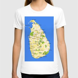 Sri Lanka Map Design T-shirt