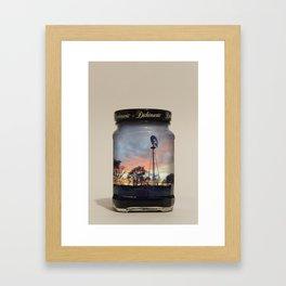 A Jarred Up Summer Framed Art Print