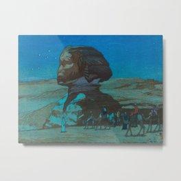 The Sphinx at Night Hiroshi Yoshida Vintage Japanese Woodblock Print Metal Print