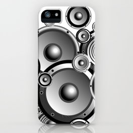 Abstract music illustration iPhone Case