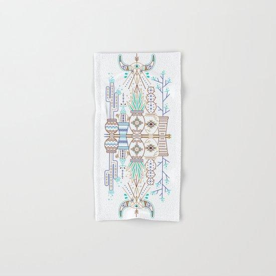 Santa Fe Garden – Turquoise & Brown Hand & Bath Towel
