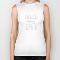 percy jackson Biker Tanks featuring Live it myself - book quote from Percy Jackson and the Olympians by book quay