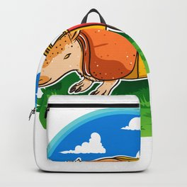 Funny Armadillo Holiday Camper Trailer Camping product Backpack