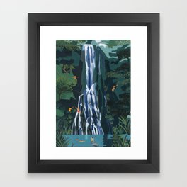 Waterfall stop Framed Art Print