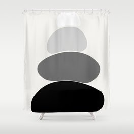b&w 2 Shower Curtain