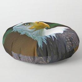 American Bald Eagle Head Floor Pillow
