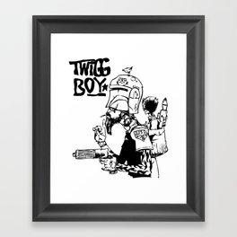 Twig Boy Framed Art Print