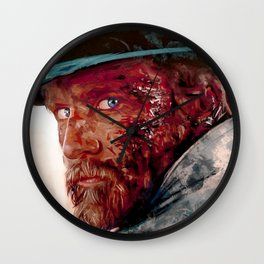 Wounded Cowboy Wall Clock