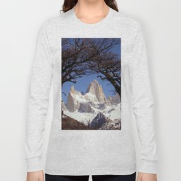 Fitz Roy Mountain Landscape (Patagonia, South America) Long Sleeve T-shirt