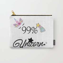 99% Unicorn Carry-All Pouch