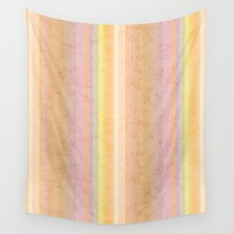 Multi-colored striped pattern .4 Wall Tapestry