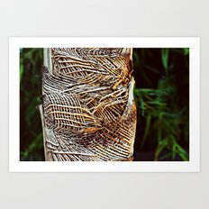 Burlap Tree Art Print