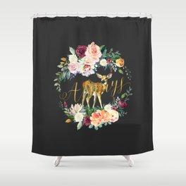 Always - Fawn - Gold/Charcoal Shower Curtain