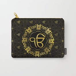 Decorative gold Ek Onkar / Ik Onkar  symbol Carry-All Pouch