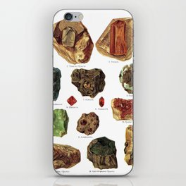 Vintage Gems And Minerals iPhone Skin