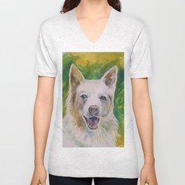 Green Dog Unisex V-Neck