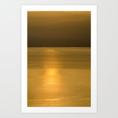 golden brown3 Art Print