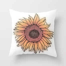 Mother Nature's Genius - Black Outline with colour Throw Pillow