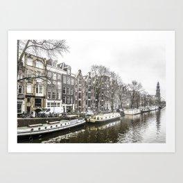 Amsterdam in the Winter Art Print