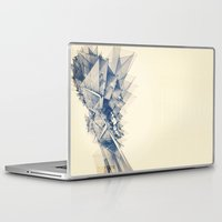 polygon Laptop & iPad Skins featuring Polygon Tower by Intelligent Pencil