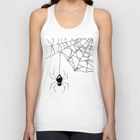 spider Tank Tops featuring Spider by Chrystal Elizabeth