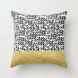 Tribal Minimal, Black and Gold Throw Pillow